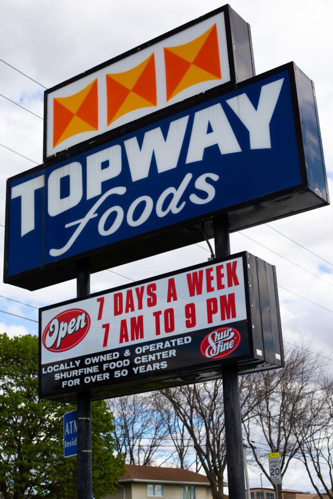 Topway Foods sign